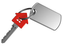 Red house-shape key with label Royalty Free Stock Photo