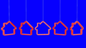 Red house shaped icon Royalty Free Stock Image