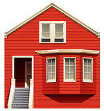 A red house with stairs Stock Images