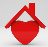 Red House symbol and heart Stock Images
