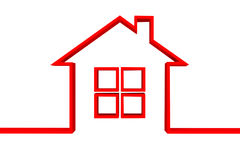 Red house symbol Royalty Free Stock Images