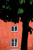 Red house and a tree Royalty Free Stock Photos