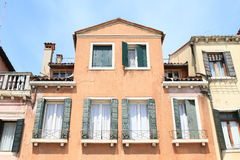 Red house in Venice Royalty Free Stock Images
