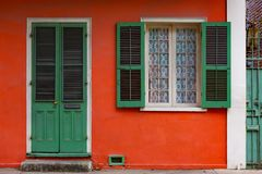 Free Red House With Green Shutters New Orleans Royalty Free Stock Photos - 136845638