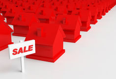 Red houses Royalty Free Stock Photography