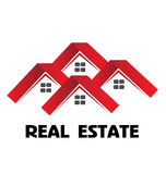 Red houses logo Royalty Free Stock Photography