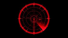 Red HUD Radar Interface Motion Graphic Element