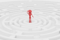 Red human 3d. Royalty Free Stock Photo