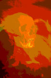 Red human skull Royalty Free Stock Photography