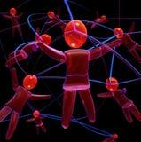 Red humana ilustración del vector