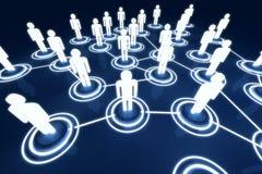 Red humana de la organización de Light Connection Link del modelo 3D Fotos de archivo
