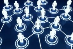 Red humana de la organización de Light Connection Link del modelo 3D Imagen de archivo libre de regalías