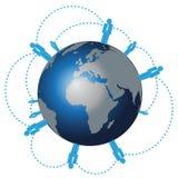 Red humana mundial ilustración del vector