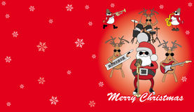 Red humorous Christmas card. Vector red humorous Christmas card Stock Images