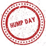 Red HUMP DAY distressed rubber stamp with grunge texture. Illustration Royalty Free Stock Photos