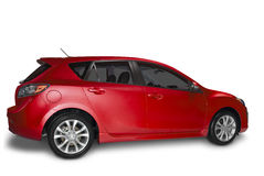 Red Hybrid Car Stock Photos