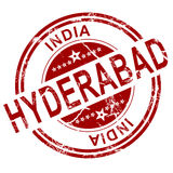 Red Hyderabad stamp Stock Photography
