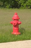 Red Hydrant. Red Fire Hydrant, freshly painted Stock Images