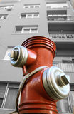 Red Hydrant image in B/W Royalty Free Stock Photos