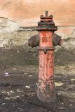 Red hydrant on the street royalty free stock photography