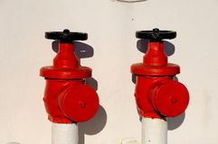 Red hydrants Royalty Free Stock Photo