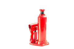 Red  Hydraulic Car Jack Stock Photo