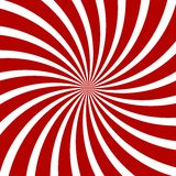 Red Hypnosis Spiral Pattern. Optical illusion. Royalty Free Stock Photography