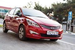 Red Hyundai Solaris Royalty Free Stock Images