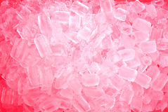 Red ice cubes Stock Images