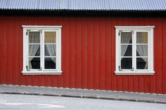 Red Icelandic house Stock Photography