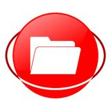 Red icon, file vector illustration. Vector icon vector illustration