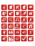 Red Icons Stock Photos
