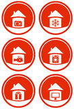 Red icons for sale Royalty Free Stock Images