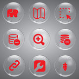 9 Red Icons Vector Stock Images