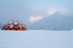 Red igloo Stock Photo