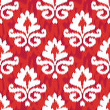 Red Ikat Damask Royalty Free Stock Image