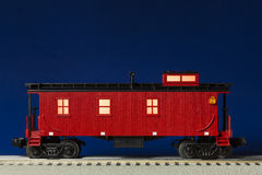 Red Illuminated Caboose Royalty Free Stock Photo