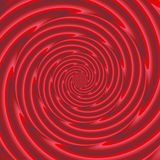 Red spiral pattern - digitally rendered background Stock Image