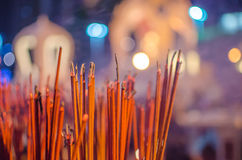 Red incense sticks Stock Images