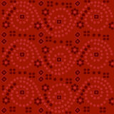 Red Indian fabric background Royalty Free Stock Image