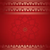 Red Indian henna border background Royalty Free Stock Photos