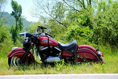 Red Indian Motorcycle Royalty Free Stock Photo