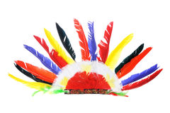 Red Indian Party Headgear. On White Background Stock Photos