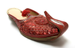 Red Indian sandals Stock Photo