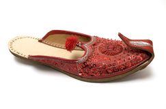 Red Indian sandals Stock Photography
