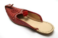 Red Indian sandals Royalty Free Stock Photos
