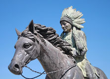 Red indian statue Stock Photo