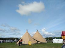Red Indian tents style Stock Images