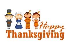 Red Indian wishing Thanksgiving stock illustration