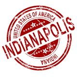 Indianapolis stamp with white background. Red Indianapolis with white background, 3D rendering Stock Images